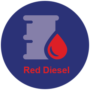Red diesel barrel icon