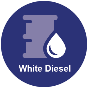 White diesel barrel icon
